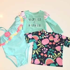 Toddler bathing suit bundle
